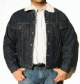 Levis Sherpa Lined Denim Jacket, Dark Blue